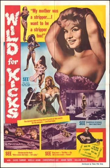 Beat Girl [ Wild for Kicks ] US One Sheet movie poster