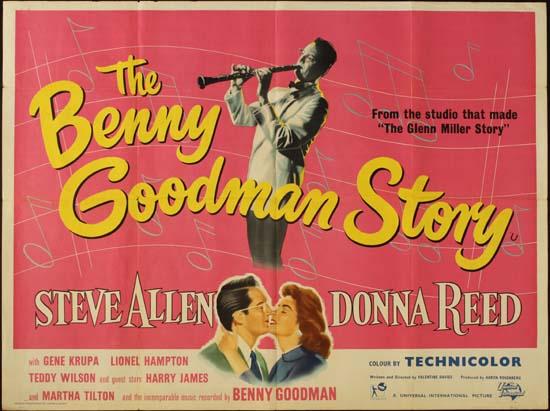 Benny Goodman Story, The UK Quad movie poster