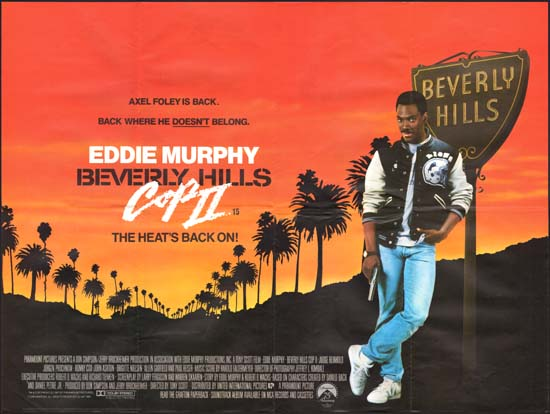 Beverly Hills Cop II [ Beverly Hills Cop 2 ] UK Quad movie poster