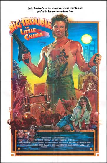 Big Trouble in Little China US One Sheet movie poster