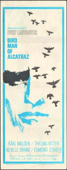 Birdman of Alcatraz US Insert movie poster