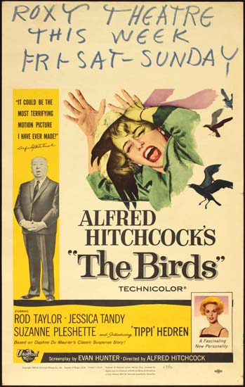 Birds, The US Window Card movie poster