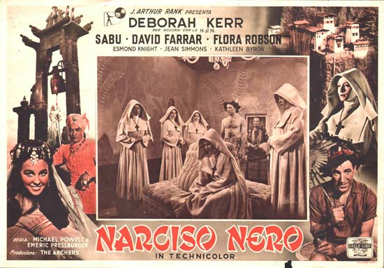 Black Narcissus Italian Photobusta movie poster