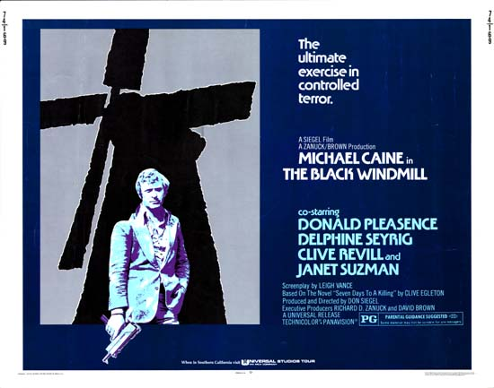 Black Windmill, The US Half Sheet movie poster