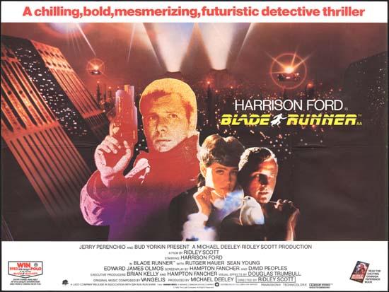 Blade Runner UK Quad movie poster