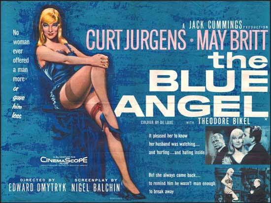 Blue Angel, The UK Quad movie poster