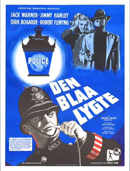 Blue Lamp, The Danish One Sheet movie poster