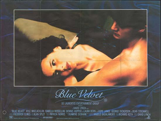 Blue Velvet UK Quad movie poster
