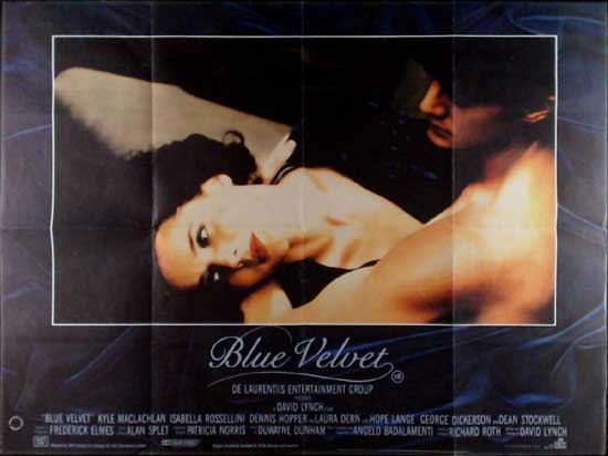 Blue Velvet UK Quad movie poster