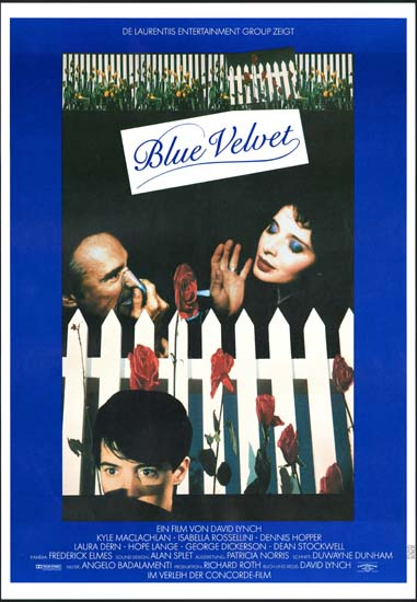 Blue Velvet German A1 movie poster