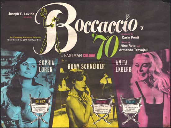 Boccaccio 70 UK Quad movie poster