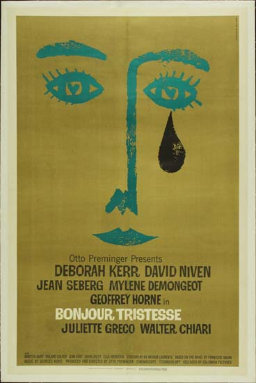 Bonjour Tristesse US One Sheet movie poster