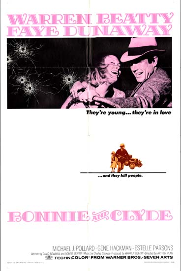 Bonnie and Clyde US One Sheet movie poster