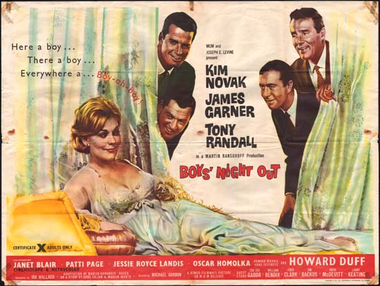 Boys Night Out UK Quad movie poster