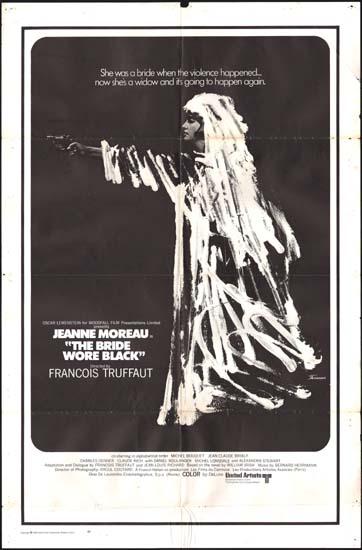 Mariee Etait en Noir, La [ The Bride Wore Black ] US One Sheet movie poster