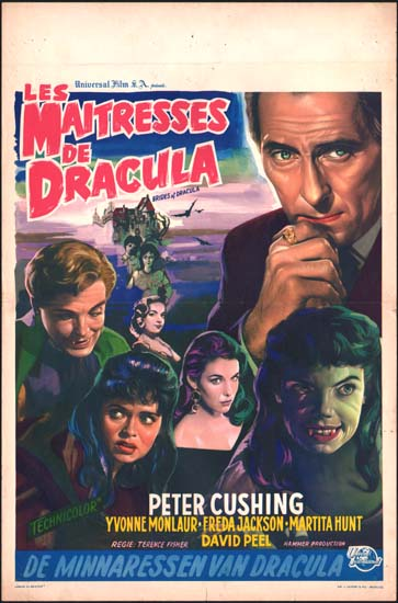 Brides of Dracula, The Belgian movie poster