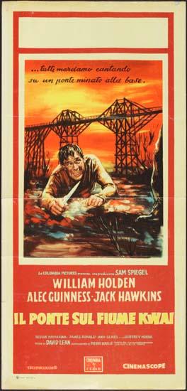 Bridge on the River Kwai Italian Locandina movie poster