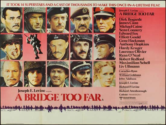 Bridge Too Far, A UK Quad style A movie poster