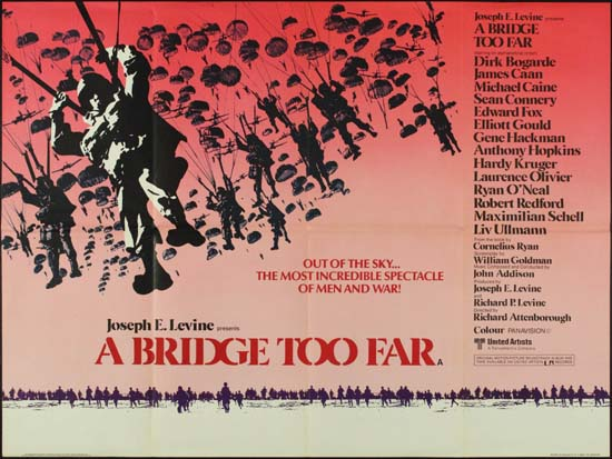 Bridge Too Far, A UK Quad style B movie poster