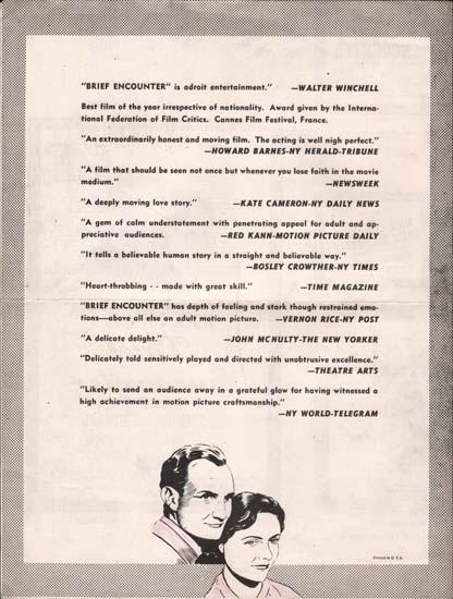 Image 3 of Brief Encounter US Pressbook