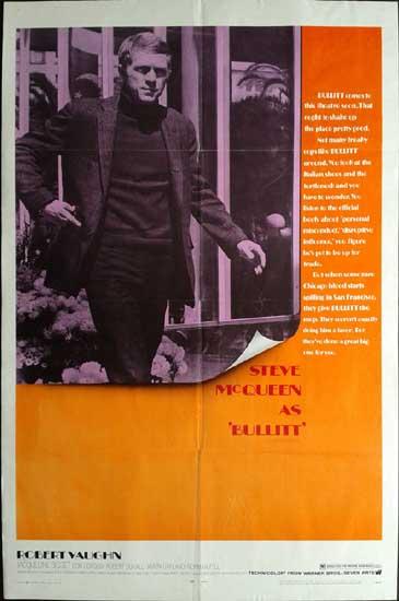 Bullitt US One Sheet movie poster