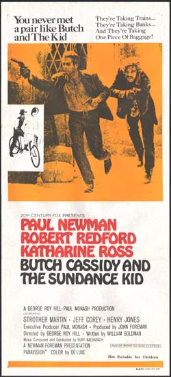Image of Butch Cassidy and the Sundance Kid Australian Daybill movie poster