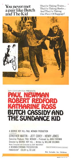 Butch Cassidy and the Sundance Kid Australian Daybill movie poster