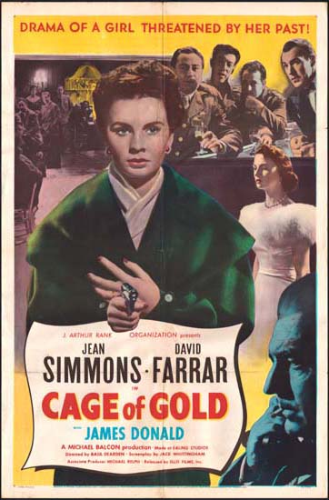 Cage of Gold US One Sheet movie poster