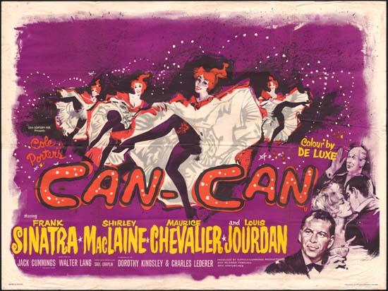 CanCan UK Quad movie poster