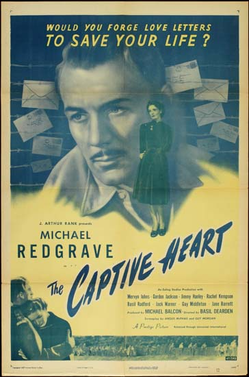 Captive Heart, The US One Sheet movie poster