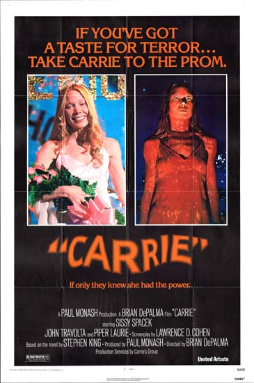 Carrie US One Sheet movie poster