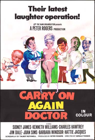 Carry On Again Doctor UK One Sheet movie poster