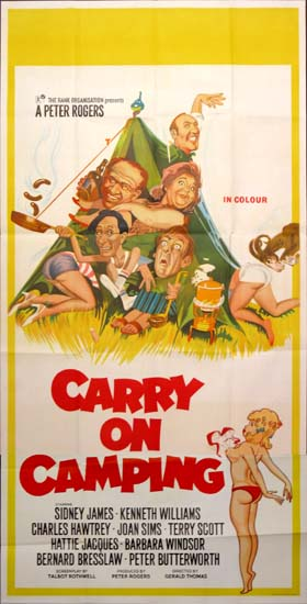 Carry On Camping UK Three Sheet movie poster