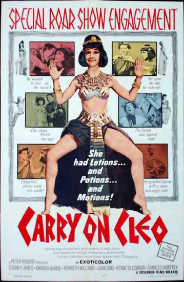 Carry On Cleo US One Sheet movie poster