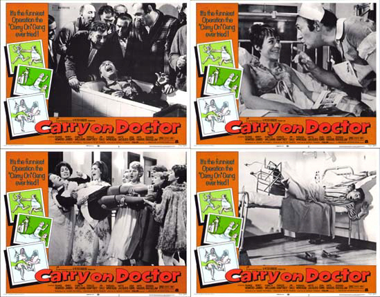 Image 2 of Carry On Doctor US Lobby Card Set of 8