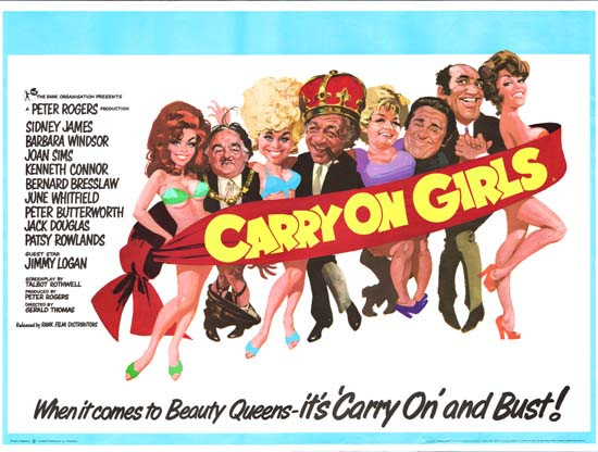 Carry On Girls UK Quad movie poster