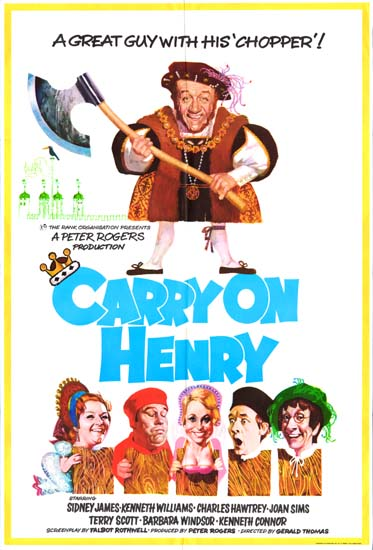 Carry On Henry UK One Sheet movie poster