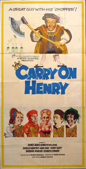 Carry On Henry UK Three Sheet movie poster