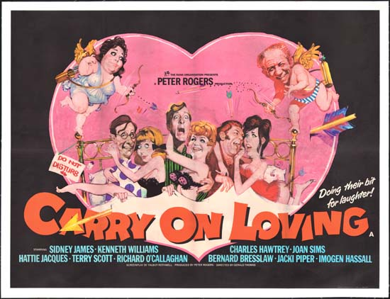 Carry On Loving UK Quad movie poster