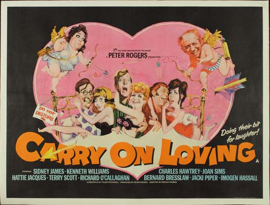 Carry On Loving UK Quad movie poster