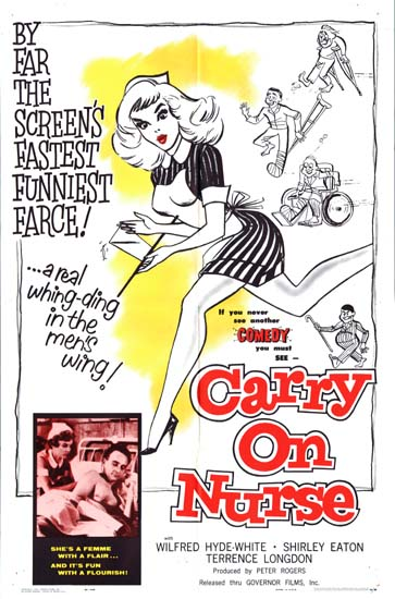 Carry On Nurse US One Sheet movie poster