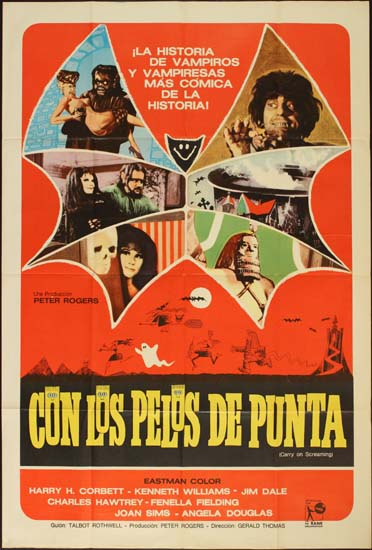 Carry On Screaming Argentinian One Sheet movie poster