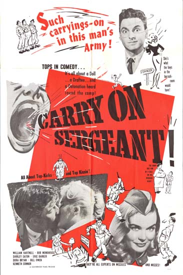 Carry On Sergeant US One Sheet movie poster