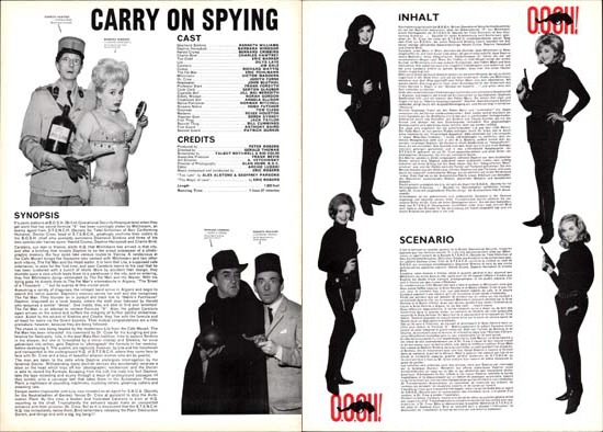 Image 2 of Carry On Spying UK Pressbook international
