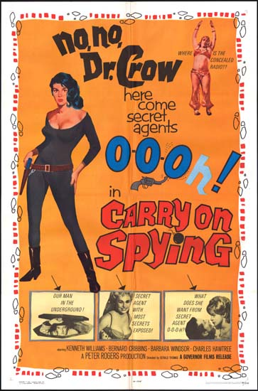 Carry On Spying US One Sheet movie poster