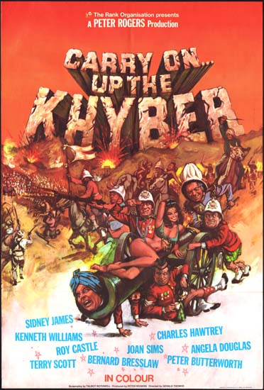 Carry On Up The Khyber UK One Sheet movie poster