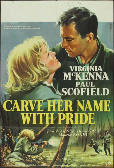 Carve Her Name With Pride UK One Sheet movie poster