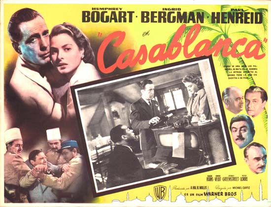 Casablanca Mexican Lobby Card
