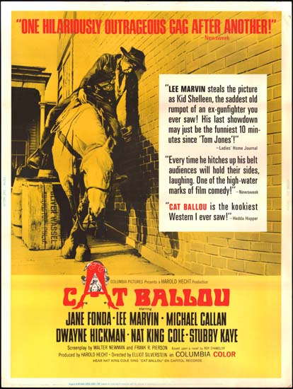 Cat Ballou US 30x40 movie poster