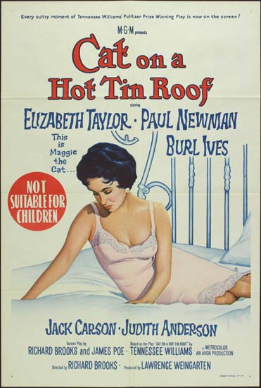 Cat on a Hot Tin Roof Australian One Sheet movie poster